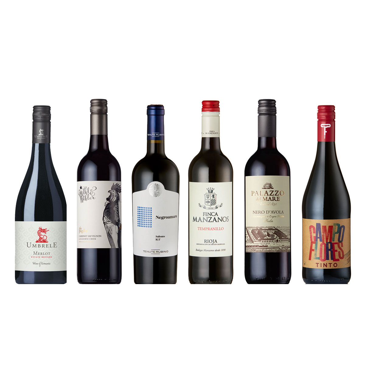 Case of Mixed Red Wine available for UK Delivery